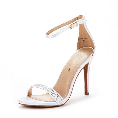 DREAM PAIRS Women's Karrie-Shine White High Stiletto Pump Heel Sandals Size 9 B(M) ()