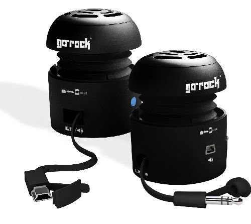 Grandmax SPKR-GR1-BK Tweakers GoRock Portable Speakers (Black)