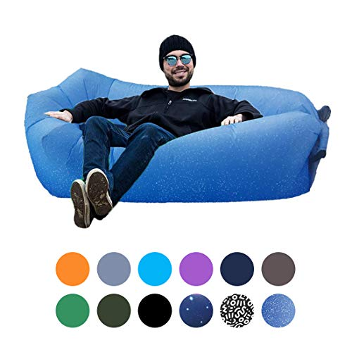 ORSEN Inflatable Lounger Portable Hammock Air Sofa with Water Proof,Anti-Air Leaking Design,Ideal Inflatable Couch and Beach Chair Camping Accessories for Parties Picnic Festival