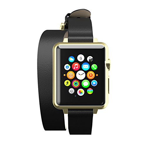 Incipio Reese Double Wrap Watch Band for Apple Watch 42mm - Black/Gold