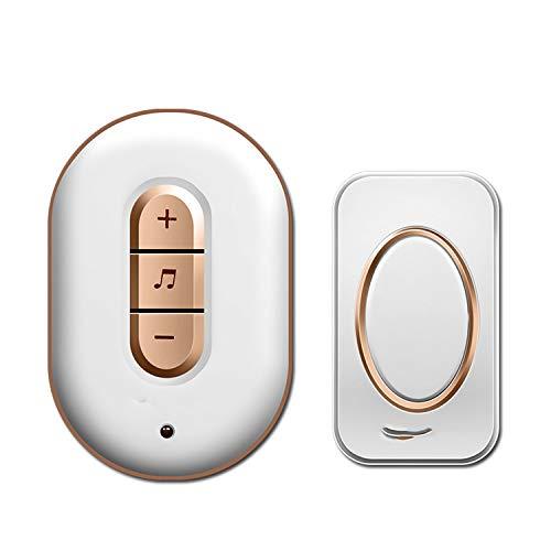 Smart home DoorBell AC 110-220V Waterproof 280m remote Wireless Door bell 48 Ringtones 6 volume,GOLD,US