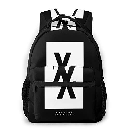 8byeliu 3D Print Machine-Gun-Kelly-19xx Casual Backpack,Multifunctional Schoolbag Knapsack Rucksack