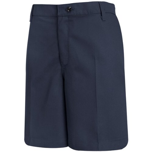 Red Kap Women's Plain Front Work Short, Navy, 14