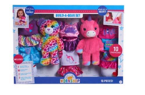Build-A-Bear Workshop Plush Set - Bear and Unicorn from BABW