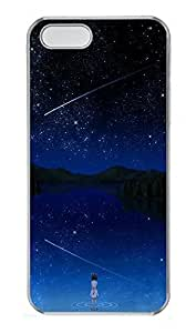 Case For HTC One M8 Cover Girl And Stars PC Custom Case For HTC One M8 Cover Cover Transparent