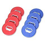 GoSports Replacement Washer Sets for Washer Toss - Sets of 8 Washers - Choose from Steel, Plastic Coated Steel Or Bottle Opener Washers