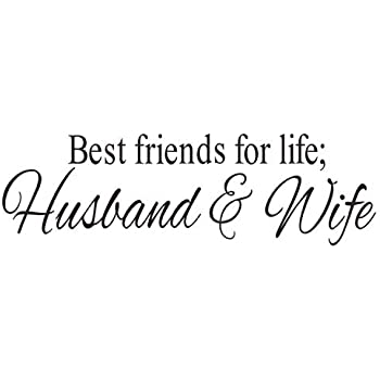 Amazon.com: BIBITIME Saying Best Friends for Life Husband ...