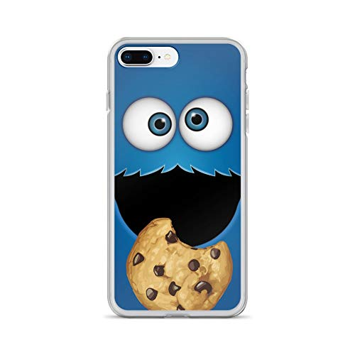 iPhone 7 Plus/8 Plus Case Anti-Scratch Television Show Transparent Cases Cover 13 Who's That Cookie Monster Tv Shows Series Crystal Clear -