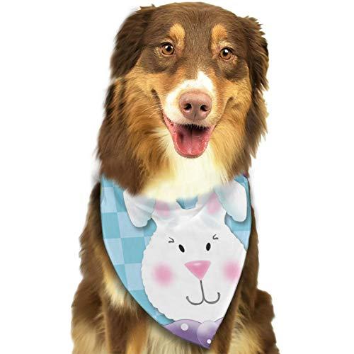 (ZZJIAK Dog Bandana Scarf Appy Easter Triangle Bibs Printing Kerchief Set Accessories Dogs Cats)
