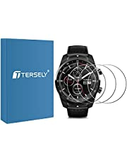 T Tersely (3 Pack) Screen Protector for Ticwatch Pro, 9H Hardness Tempered Glass Screen Protector Film Guard for Ticwatch Pro