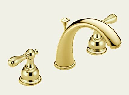 Delta C Spout 3583 Pblhp Bathroom Lavatory Faucets Polished Brass