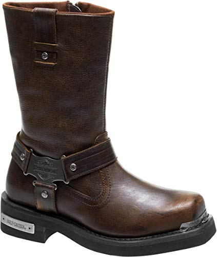 - Harley-Davidson Men's Charlesfort Leather Motorcycle Boots D96150 (Brown, 12)