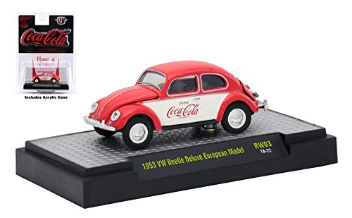 M2 Machines Limited Edition Coca Cola Series 3 1953 VW Beetle Deluxe European Model RW03