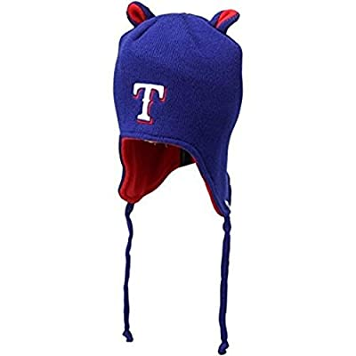 Texas Rangers Toddler Mouse Ears Knit Beanie With Tassels Hat Cap Boys And Girls