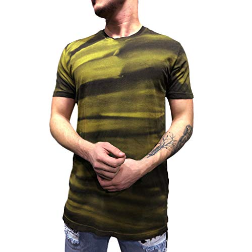 Men's Fashion Textured Design T-Shirt,MmNote Fashion Loose Casual Polyester Workout Modern Fit Cool Quick Short Sleeve ()