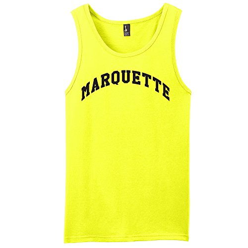 Campus Merchandise NCAA Marquette Golden Eagles Arch Neon Tank, Neon Yellow, Small