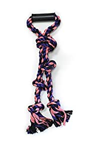 Pet Champion Large Big Dog 5 Knot w Handle Rope Toy Camo, Assorted