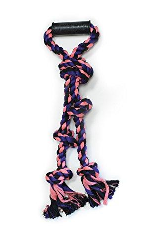 (Pet Champion Large Big Dog 5 Knot w Handle Rope Toy Camo,)