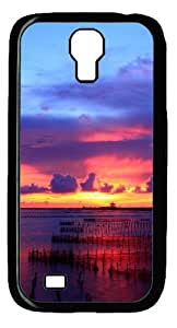 Multicolored Sunset Custom Designer Samsung Galaxy S4 SIV I9500 Case Cover - Polycarbonate - Black