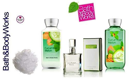 Bath and Body Works Cucumber Melon Gift Set Eau de Toilette ~ Body Lotion ~ Shower Gel & Shower Sponge - Signature ()