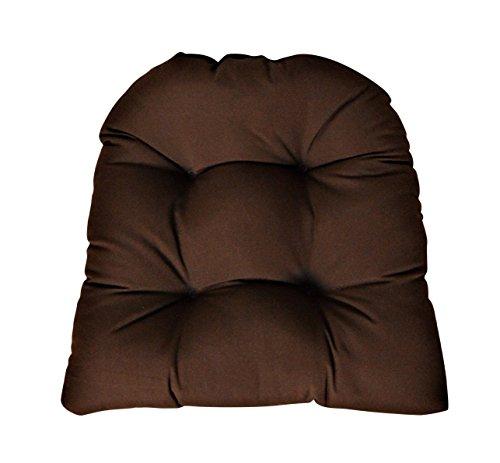 Cushion Chestnut Brown Sunbrella - RSH DECOR Sunbrella Canvas Bay Brown Large Wicker Chair Cushion - Indoor/Outdoor 1 Tufted Wicker Chair Seat Cushion
