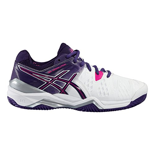 Gel Pink Resolution Femme Asics Chaussures 6 Lila Weiß Tennis Clay de lila pink weiß wSvTqqd