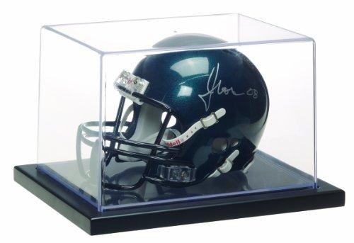 Glass Mini Helmet Case - MCS 8x6x5 Inch 1/4 Mini Helmet Display Case, Black (53973)