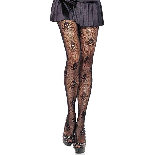 (Leg Avenue Womens Skull Print Micronet Tights)