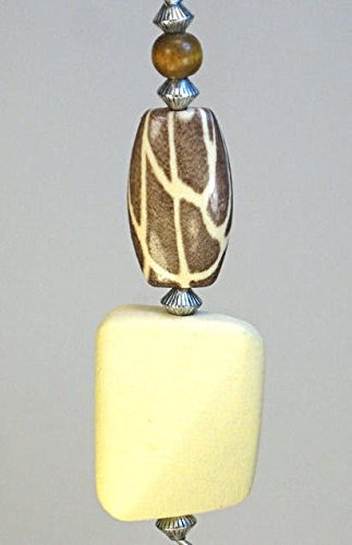 Giraffe Pattern African Plains Brown and Cream Ceiling Fan/Light Pull