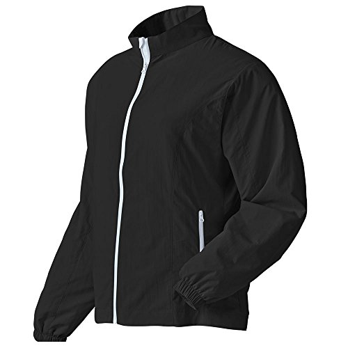 - FootJoy Performance Full-zip Golf Windshirt 2016 Ladies Black/White Small