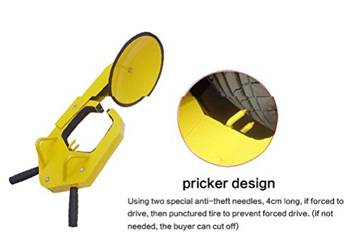 JINGBO Car tire lock anti - theft lock solid suction cup anti - theft lock high - quality cold - rolled steel sheet protective rubber by JINGBO (Image #5)