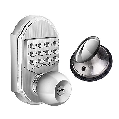 Elemake Keyless Entry Door Lock Deadbolt Keypad Mechanical Stainless Steel Higher Security (Pass Code or Key)