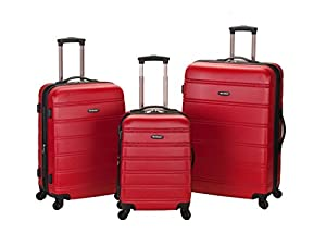 Amazon.com | Rockland Luggage Melbourne 3 Piece Abs Luggage Set ...