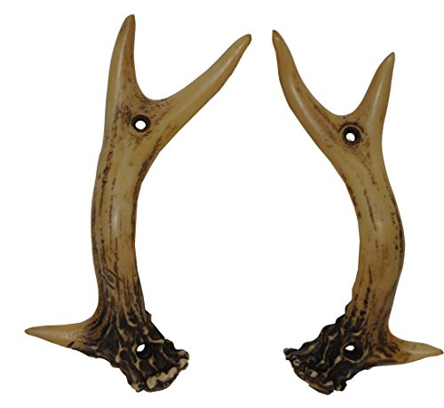 HiEnd Accents Rustic Antler Knobs, 1-Pair