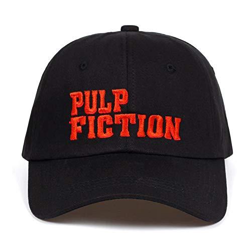 Jeremy Stone New Pulp Fiction Embroidery Snapback Cap Cotton Baseball Cap for Men Women Adjustable Hip Hop Dad Hat Bone Black