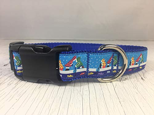 Puffin Trio with For-Get-Me-Nots Dog Collar
