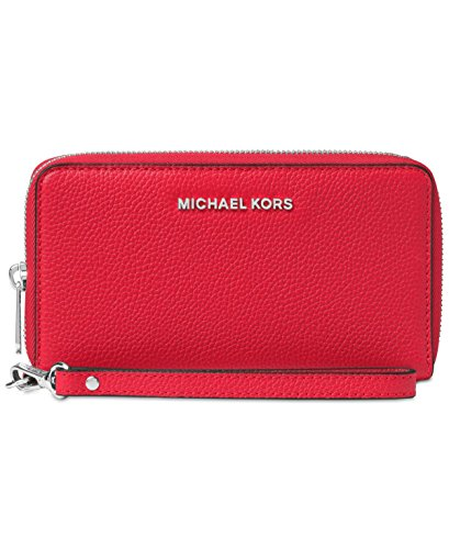 MICHAEL Michael Kors KORS STUDIO Large Flat Phone Case Wristlet Bright Red by MICHAEL Michael Kors