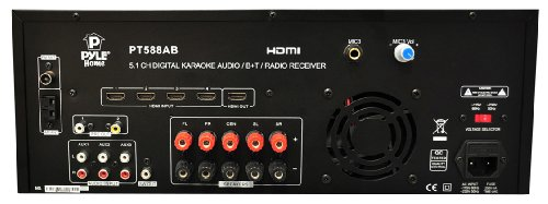 Pyle PT588AB 5.1 Channel Home Theater AV Receiver, BT Wireless Streaming (HDMI, 4K Ultra & 3D TV Pass-Through Support) Top Offers