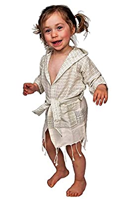 TOGETHER TEXTILES Little Girls' and Boys' Cotton and Bamboo blend Pool, Beach, and Bath Robe Cover-up