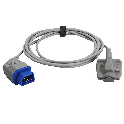 Medke Compatible for Nihon Kohden Spo2 Sensor Adult Soft 9.8 ft 14 Pins Connector FDA/CE Approved