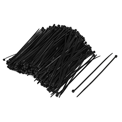 uxcell-500pcs-3mm-x-150mm-Nylon-Self-Locking-Electric-Wire-Cable-Zip-Ties-Fastener-Black
