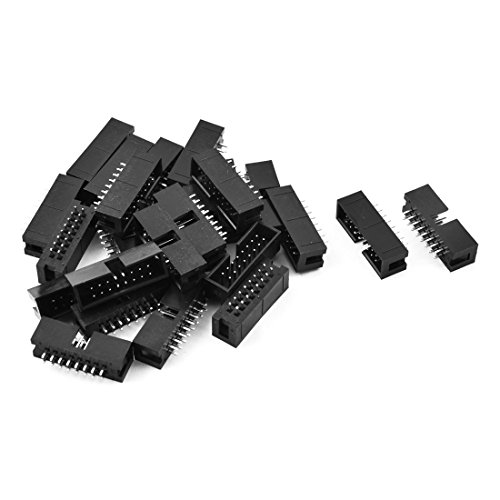 uxcell 25 Pcs 16-Pin Double Row Straight Shrouded Box Header Connector Pitch 2.54mm