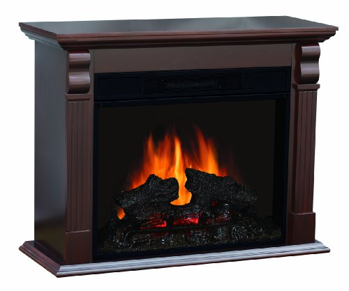 Quality Craft MM910-33ECN Electric Fireplace Heater with 750-1500-watt Adjustable Temperature Control and 33-Inch Mantel Chestnut Color