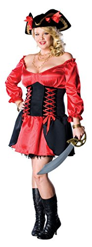 [Pirate Wench Womens Halloween Costume Secret Wishes Sexy Cute Plus Size] (Plus Size Ruby The Pirate Beauty Costumes)
