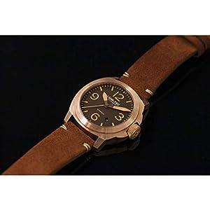 Lum-Tec M83 Bronze Automatic Wrist Watch | Brown Suede Strap