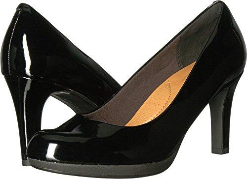 CLARKS Women's Adriel Viola Dress Pump, Black Patent, 8 W US