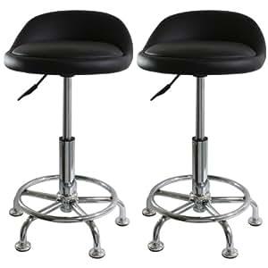 amerihome bs2304set adjustable height shop stool set of 2 automotive. Black Bedroom Furniture Sets. Home Design Ideas