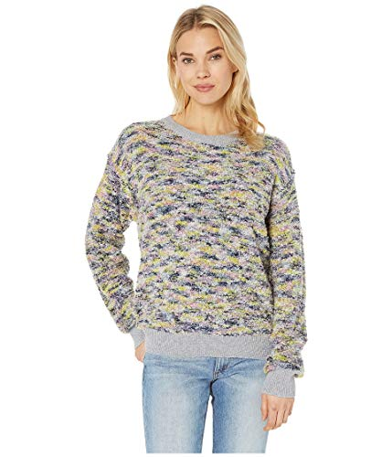 CeCe Women's Long Sleeve Pullover Boucle Sweater Confetti Pink X-Large