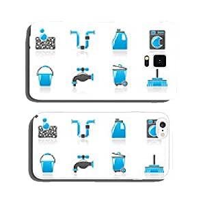 Cleaning and hygiene icons - vector icon set cell phone cover case iPhone5