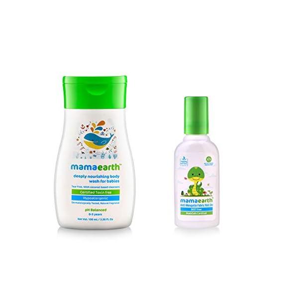 Mamaearth Deeply Nourishing Body Wash + Anti Mosquito Fabric Roll On